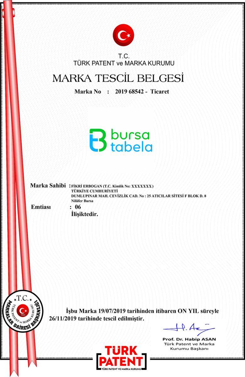 Bursa Tabela Markası